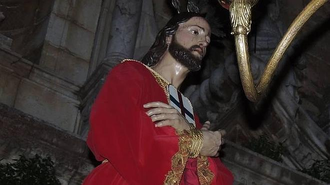 Esta tarde, procesión de Jesús Amarrado a la Columna y la Virgen de las Angustias