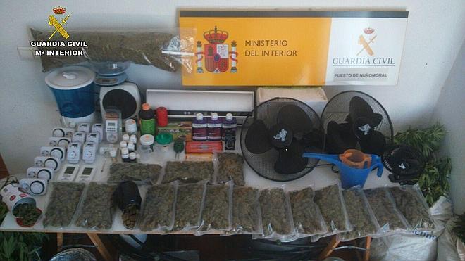 Desmantelan un laboratorio y punto de venta de drogas en Las Hurdes