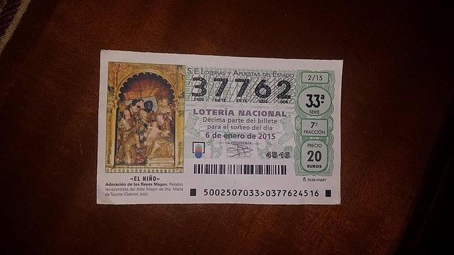 El lotero de Villanueva vuelve a llevar la suerte a la localidad con un 'pellizco' del Niño