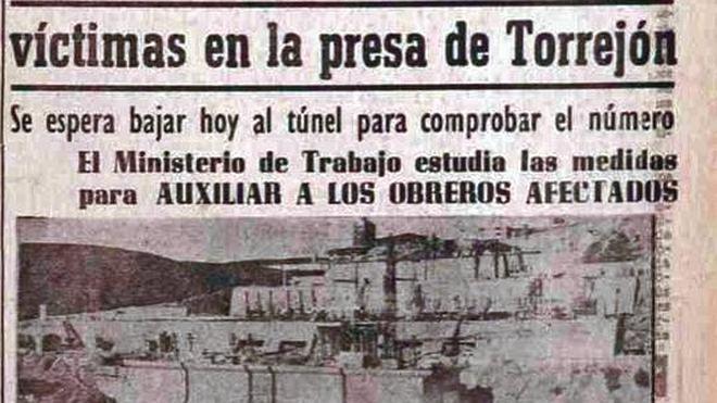 Homenajearán a los trabajadores muertos en 1965 en una presa extremeña