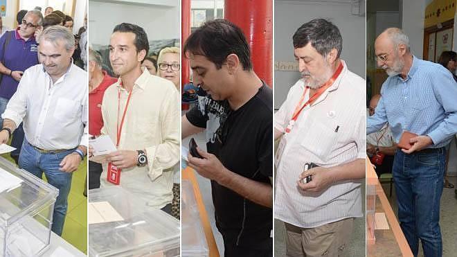 Los principales candidatos de Badajoz votan en sus colegios electorales