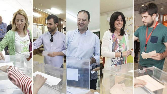 Los principales candidatos cacereños votan a primera hora