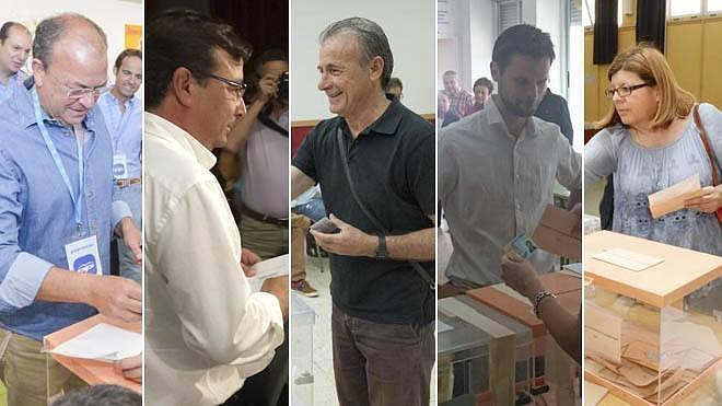 Los candidatos a la Presidencia de la Junta animan al voto