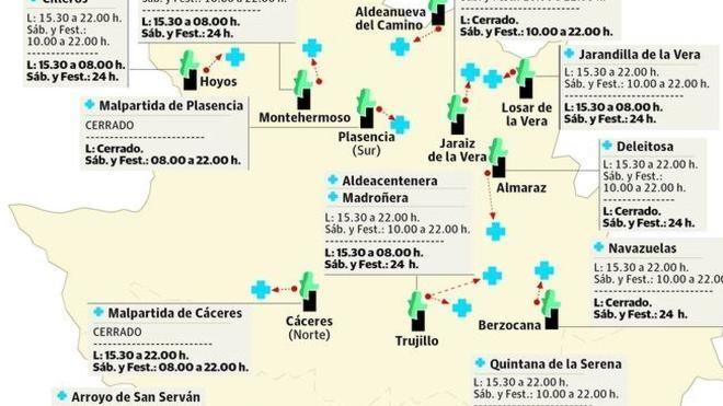 Quintana, Madroñera y Jarandilla recuperan hoy los servicios de urgencias 24 horas