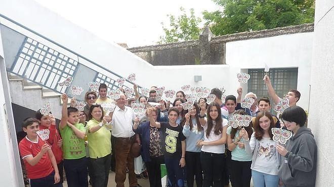 Actividad sobre trashumancia y patrimonio etnográfico de alumnos del IESO Los Barruecos