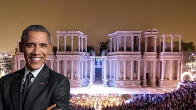 Obama en el Teatro Romano de Mérida