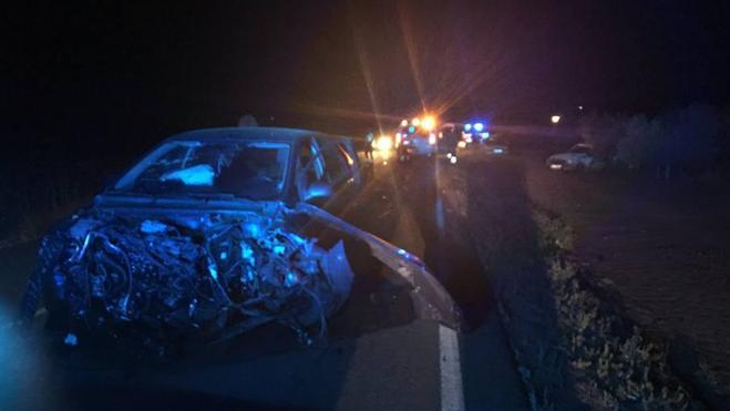 Cuatro heridos en un accidente cerca de La Albuera