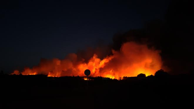 Controlado el incendio en Sierra de Gata tras arrasar unas 60 hectáreas