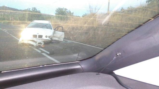 Uno de los conductores que chocaron en Salvatierra dio positivo en droga y alcohol