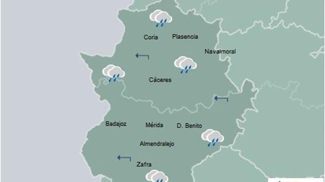 Montehermoso, entre las diez localidades más lluviosas de España esta noche