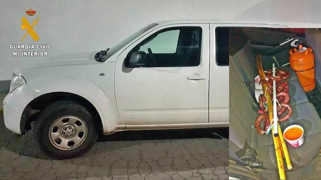 Detenido por robar un vehículo y productos de alimentación en Berlanga