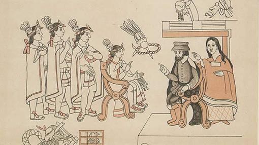 Malinche, la amante de Hernán Cortés que se casó con otro extremeño, Juan Jaramillo
