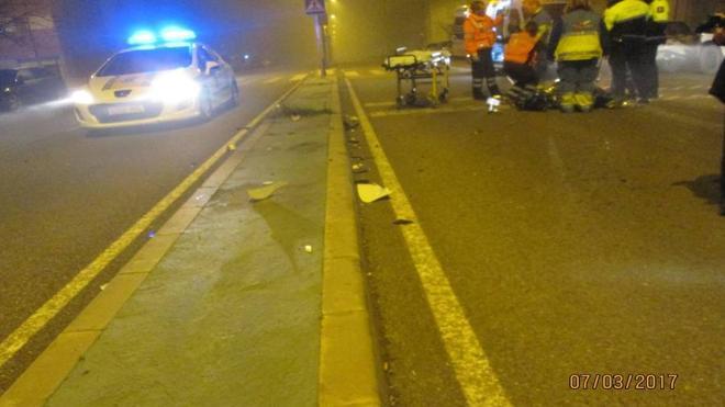 Un motorista resulta herido al sufrir una caída en el Cerro Gordo