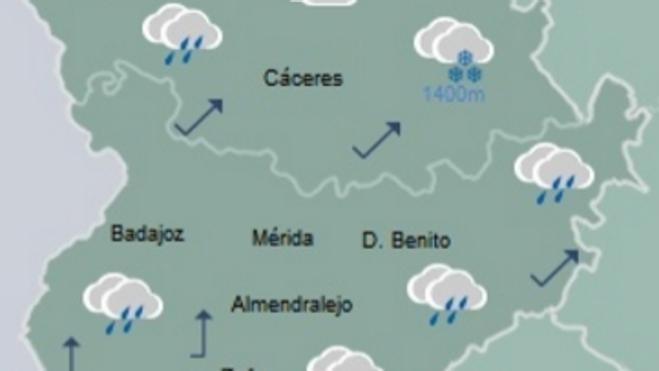 Olivenza registra una racha de viento de 93 kilómetros por hora, la más alta del país