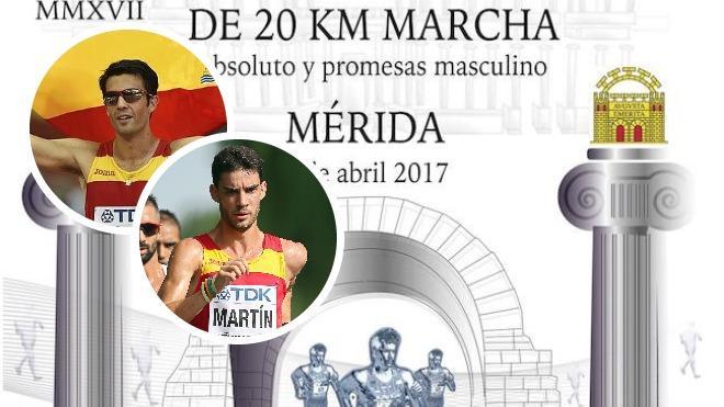El campeón del mundo Miguel A. López y el extremeño Álvaro Martín encabezan el nacional de marcha de Mérida