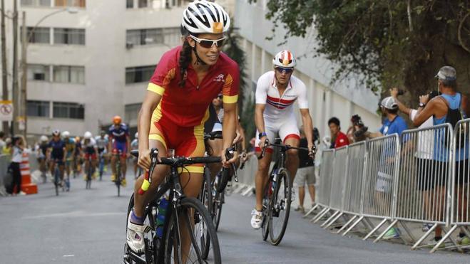 La triatleta extremeña Miriam Casillas, la mejor española en Japón