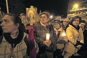 Los pereguinos honran a la Mártir