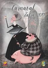 El cartel de Ángela Sánchez gana el concurso del Carnaval 2019 de Zafra