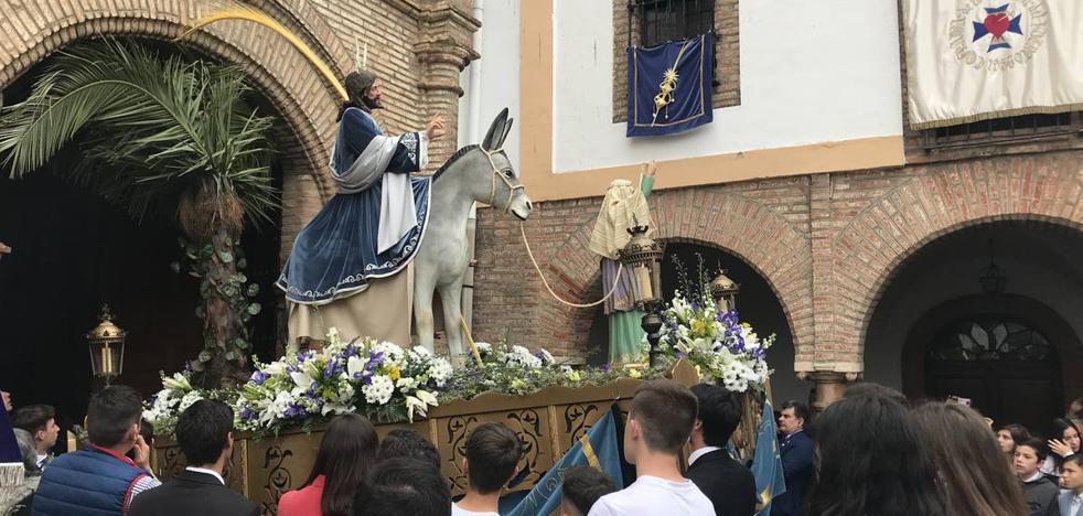 La Borriquita y Jesús Orando en el Huerto acompañado del Corazón Doloroso de María abrieron la Semana Santa