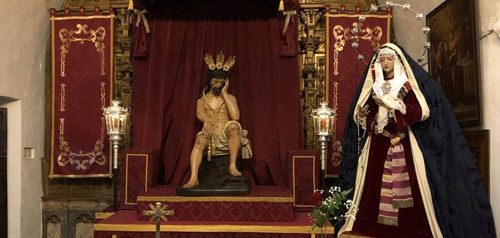 La cofradía del Cristo de la Humildad y Paciencia y María Santísima de la Salud mira al cielo este Miércoles Santo