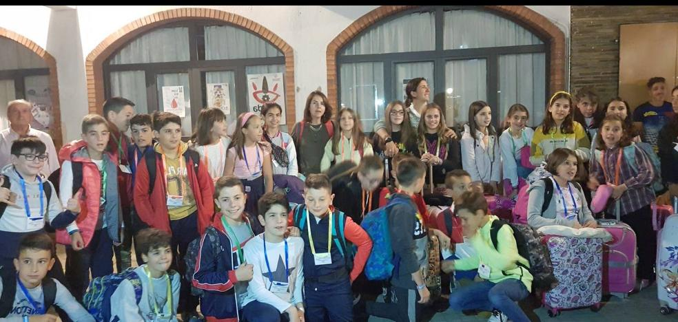 Los alumnos de quinto de Primaria del Pedro de Valencia viajaron a Bayeux