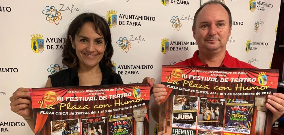 El festival 'La Plaza con humor' será del 1 al 5 de septiembre en la Plaza Chica