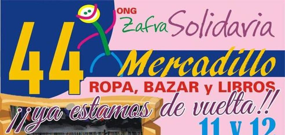 Zafra solidaria tiene abierto su 44 Mercadillo Solidario