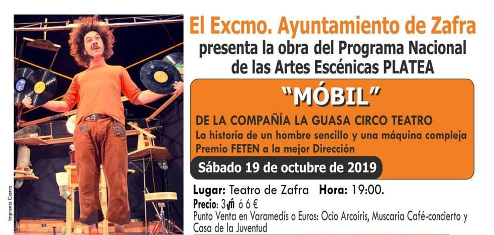 La obra 'Móbil' de La Guasa Circo Teatro llega este sábado al Teatro de Zafra
