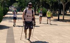 Pedro Hidalgo estuvo en Zafra con su reto solidario para ayudar al diagnóstico de las enfermedades raras