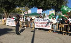 Afiliados de USO se manifestaron en la inauguración de la FIG