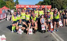 Los Runners Uni2 vuelven a ser premiados por ser el club más numeroso en la Media Maratón de Sevilla