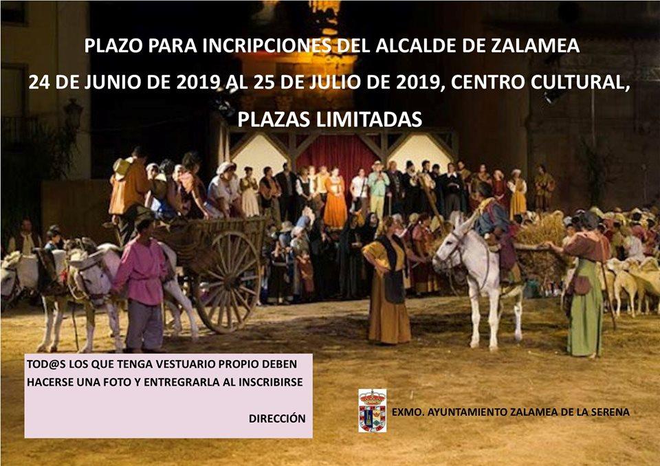 Abierto el plazo de inscripción para participar en la representación de 'El alcalde de Zalamea'