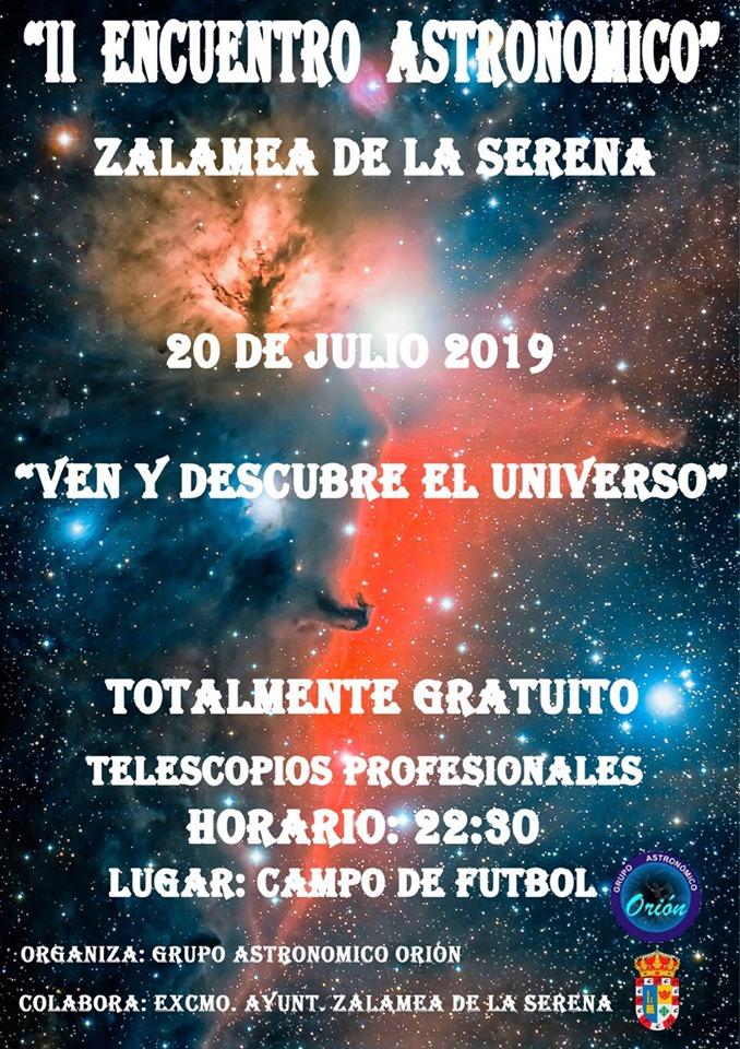Zalamea acogerá el segundo encuentro astronómico