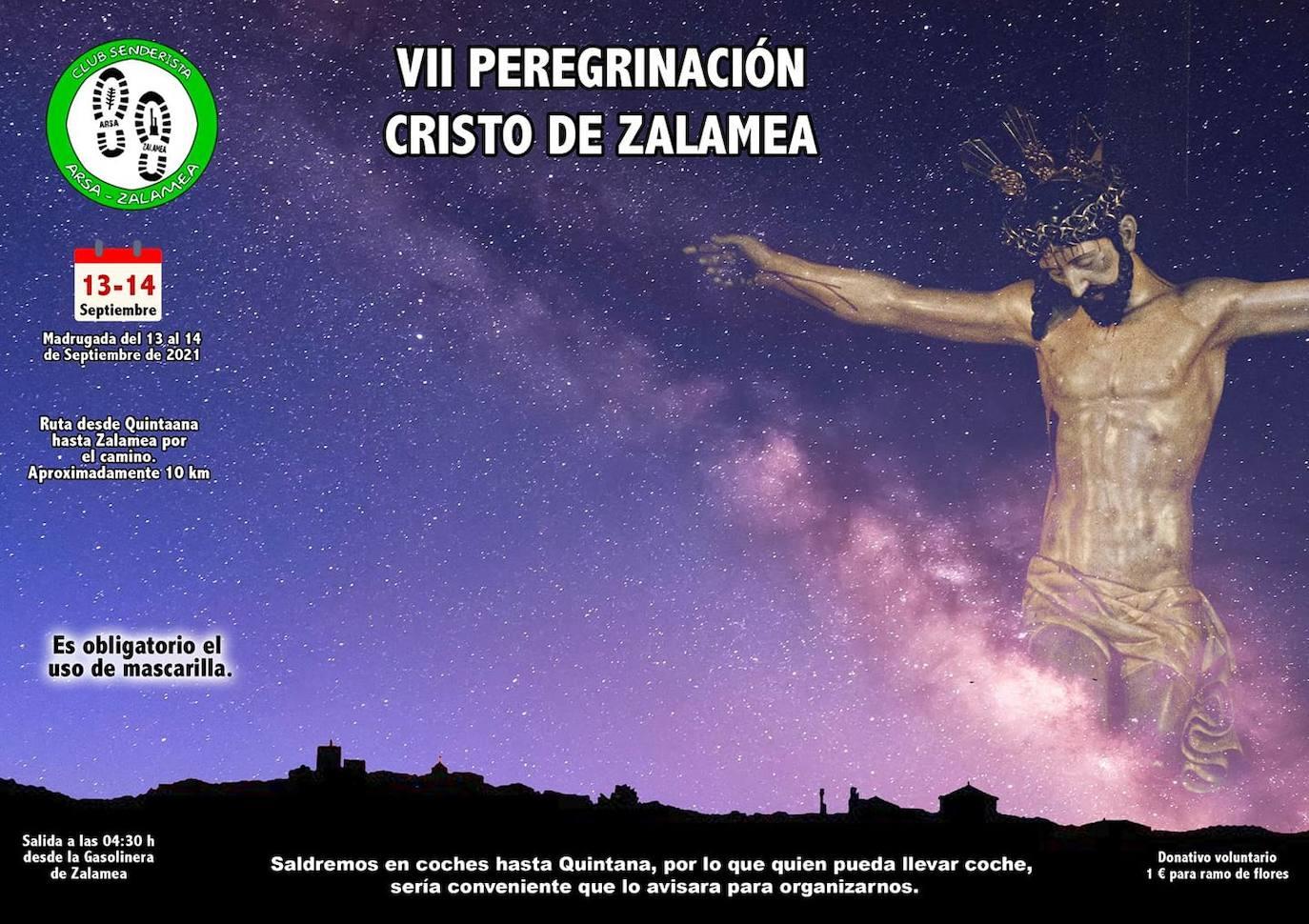 El Club Senderista Arsa-Zalamea organiza la VII Peregrinación al Cristo de Zalamea