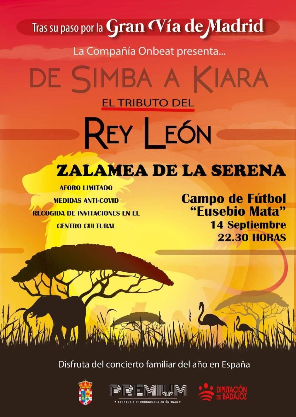 Aplazado al jueves 16 de septiembre el Musical Tributo del Rey León 'De Simba a Kiara'