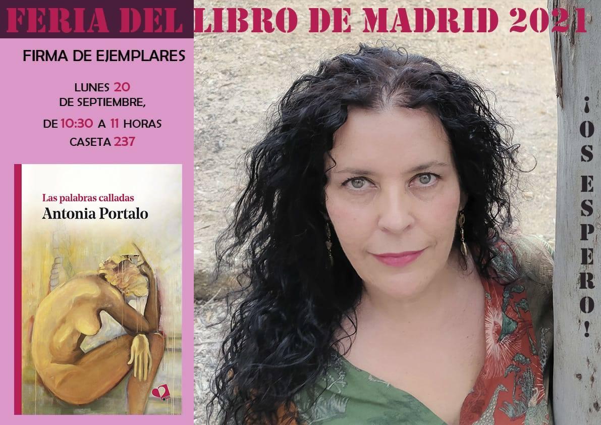 La escritora extremeña Antonia Portalo estará en la Feria del Libro de Madrid