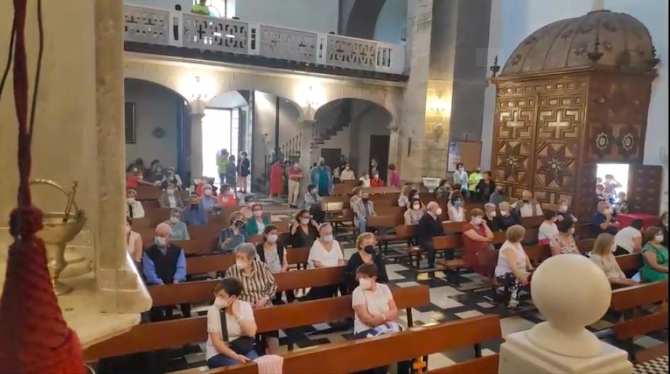 El Cristo de la V Angustia recibe de nuevo a decenas de peregrinos de la comarca