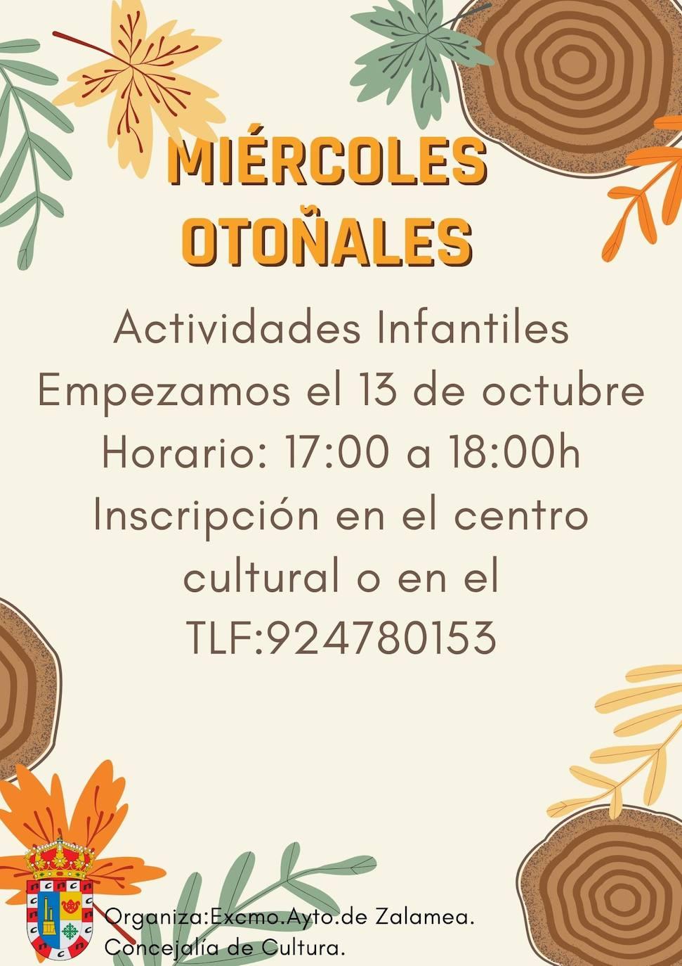 El Centro Cultural acoge la actividad infantil 'Los miércoles otoñales'