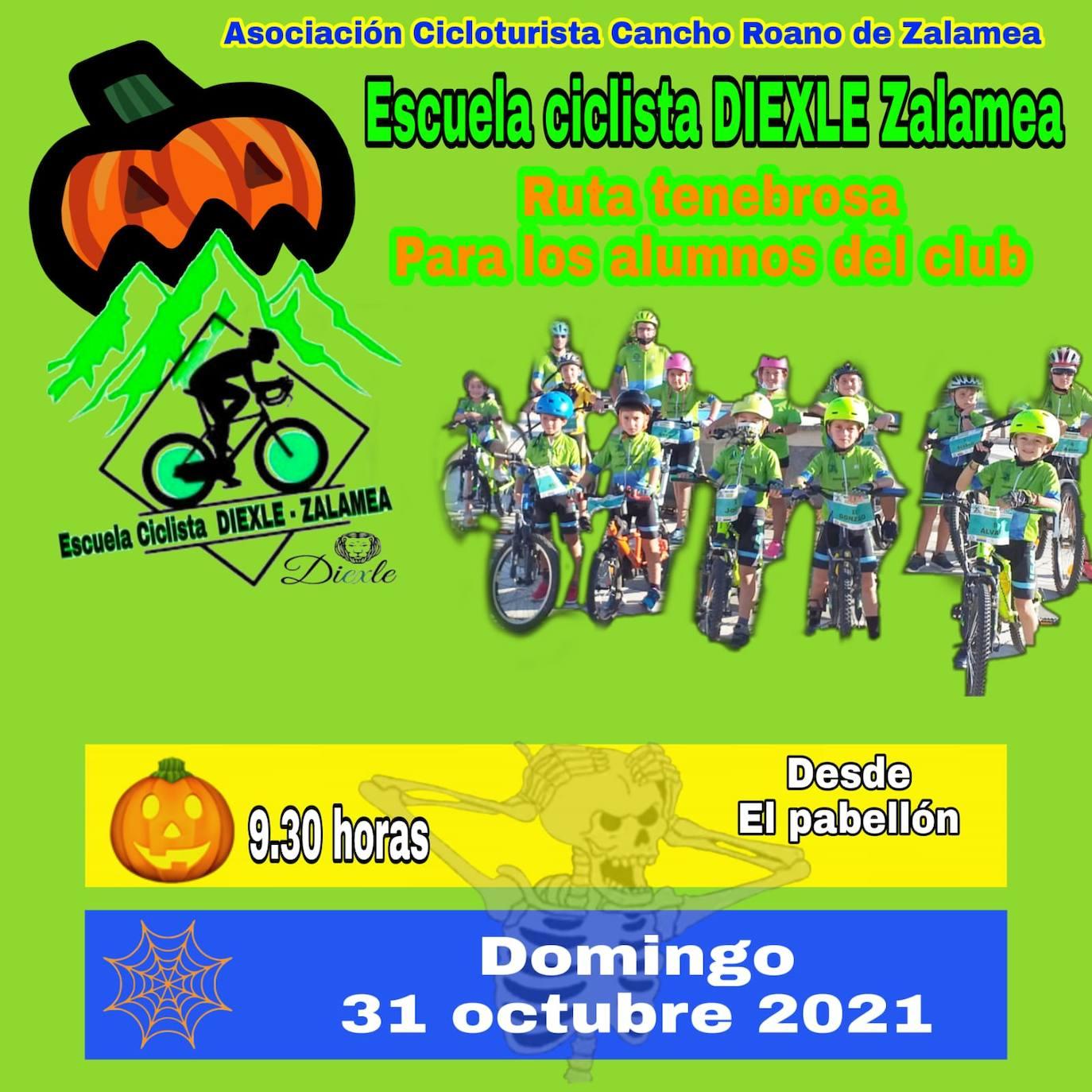 La Escuela Ciclista Diexle Zalamea organiza una 'ruta tenebrosa' para el próximo domingo